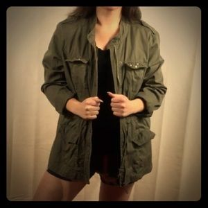 roz & ALI Army Green Utility Jacket Size XL